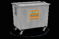 Bedrijfsafval container (staal) vanaf 1000l